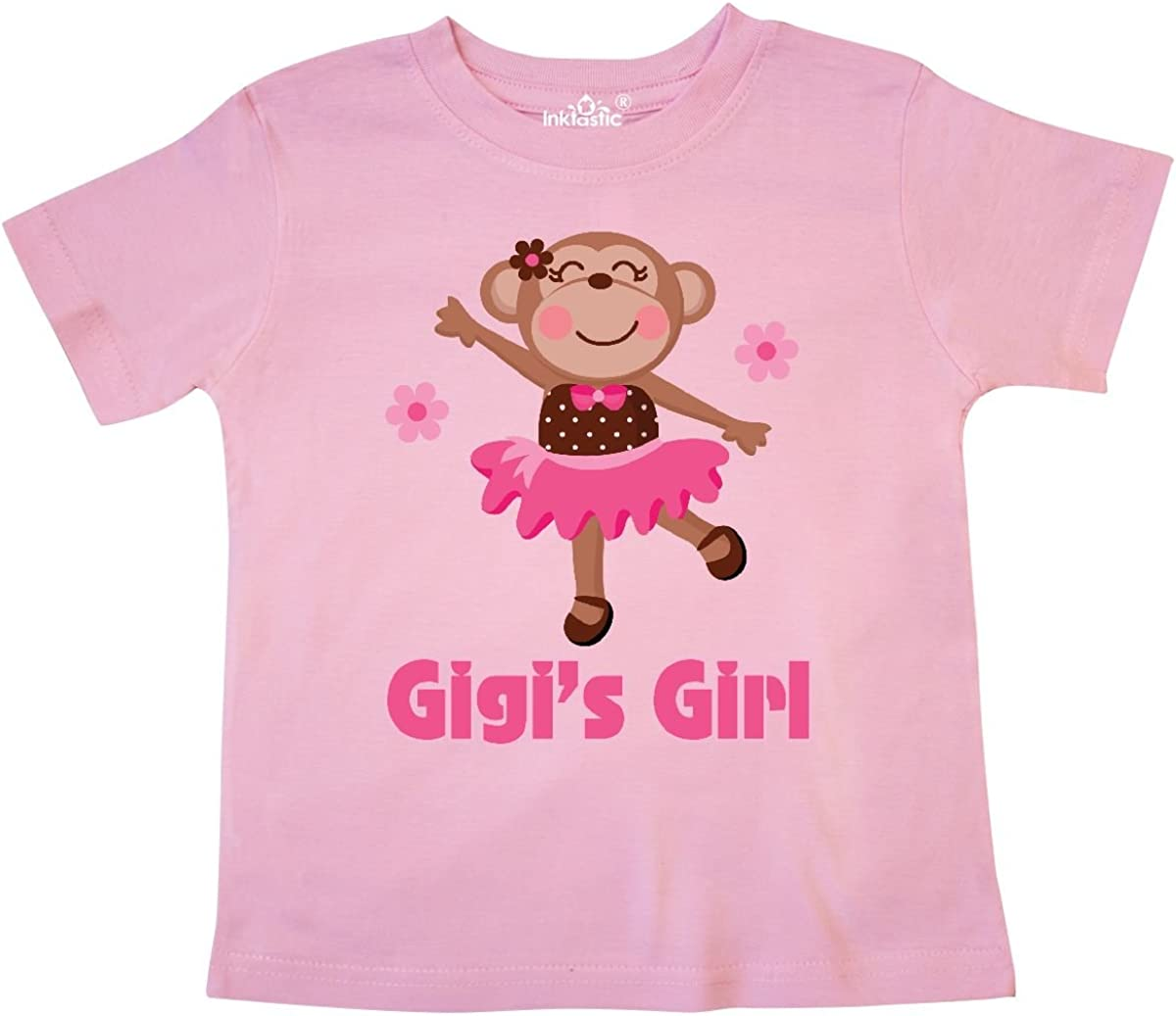 inktastic Gigis Girl Monkey Toddler T-Shirt
