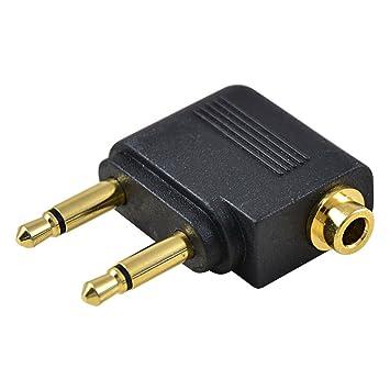 MENGS dorado de avión de adaptador para auriculares Monster conversor de Audio para doble 3,