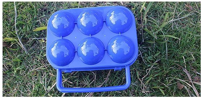 BrilliantDay Portable 6 Eggs Slots Holder Shockproof Storage Box for Camping Hiking Orange