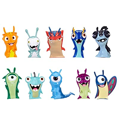 SLUGTERRA, Exclusive Mini Slug 10 Pack (Includes 3 Guardian Slugs: Bludgeon, Stinky, & Joules): Toys & Games