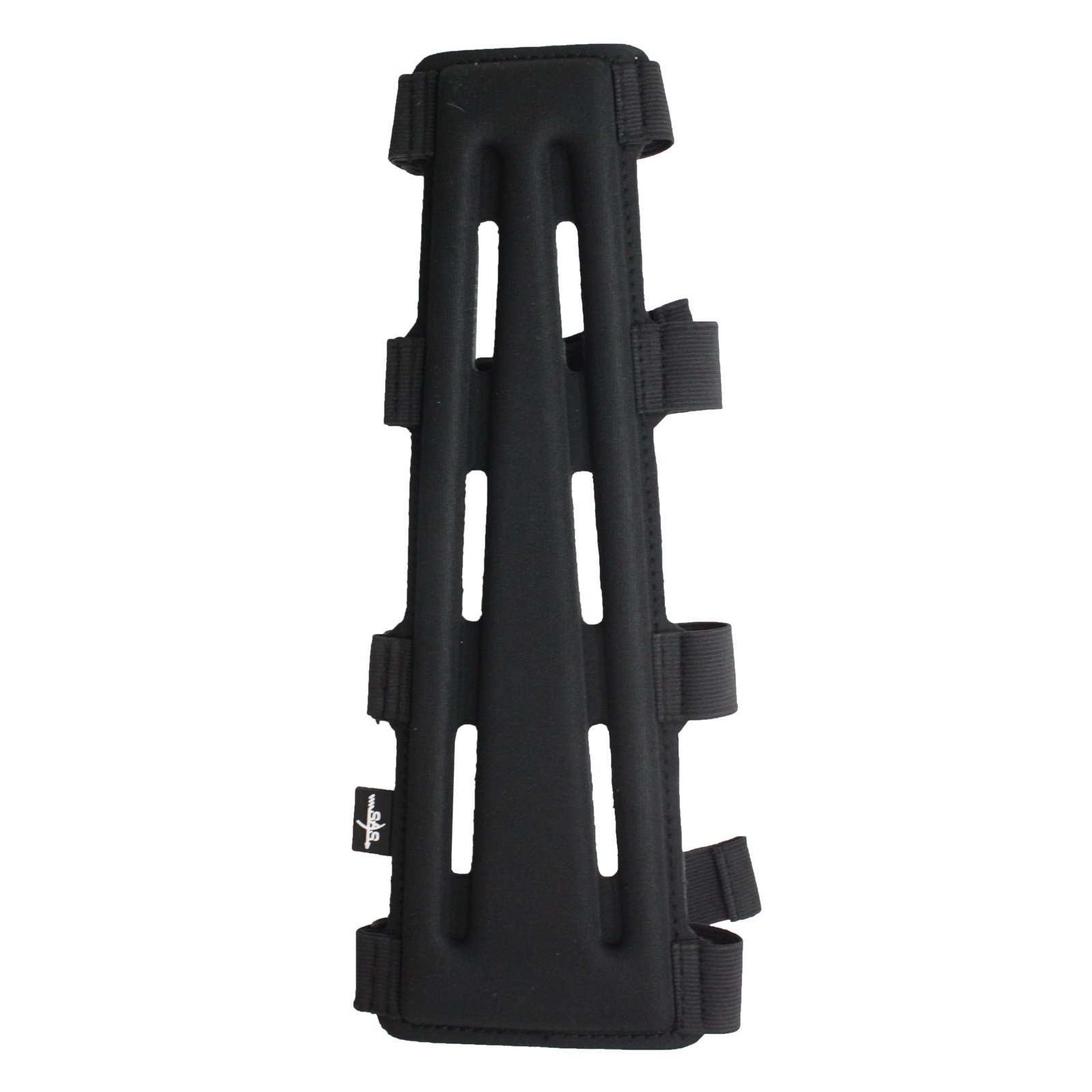 SAS 11.5'' Black Long Archery Armguard with 4-Strap Buckles