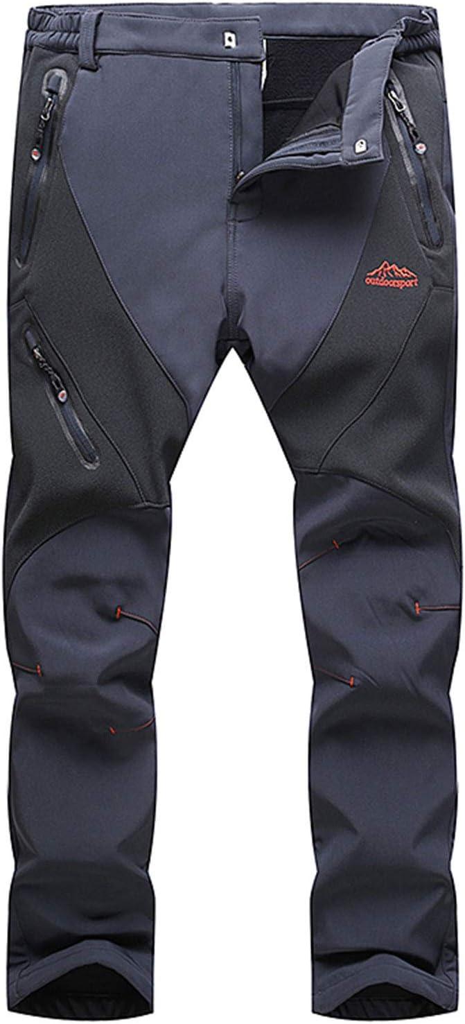 Freiesoldaten Hombres Prueba de Viento Soft Shell Senderismo Escalada Pantalones Al Aire Libre Lana Pantalones de Esqui