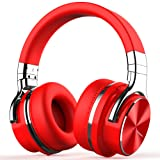 Amazon Price History for:COWIN E7 PRO [2018 Upgraded] Active Noise Cancelling Headphone Bluetooth Headphones with Microphone Hi-Fi Deep Bass Wireless Headphones Over Ear 30H Playtime for Travel Work TV Computer Phone - Red