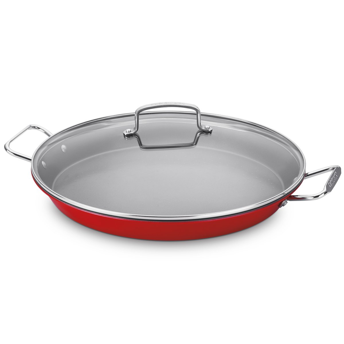 CUISINART Non-Stick Paella Pan, 15-Inch, Red ASP-38CR