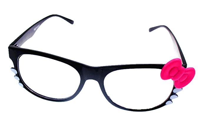 7c6fd99a4bb Akanbou Hello Kitty Eyeglass with Colorful Bowknot and Whiskers Metal Hinge  for Girl Woman Costume (