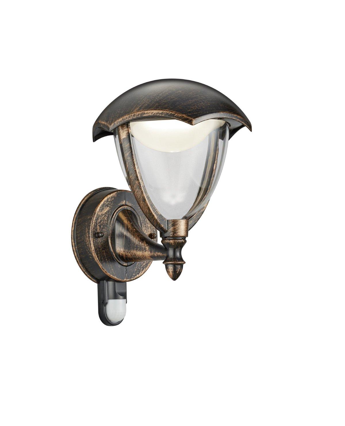 Trio Leuchten LED Au/ßenleuchte Gracht 421960128 1x 6 Watt Druckguss Aluminium rostfarbig antik