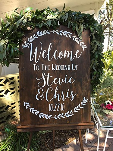 Custom Rustic Wedding Sign Decal, Welcome to the Wedding of Decal