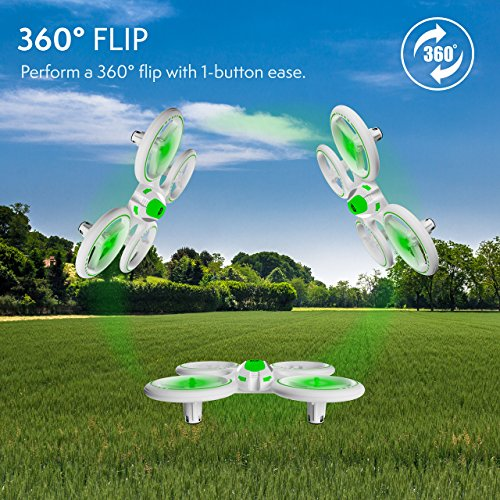 "Force1 Bright LED Quadcopter Drone – ""UFO 3000"" Easy Fly RC Drone for Kids with Glowing LED Drone Quadcopter Lights + Mini Drone Bonus Battery and Blades (Certified Refurbished) by Force1 (Image #5)"