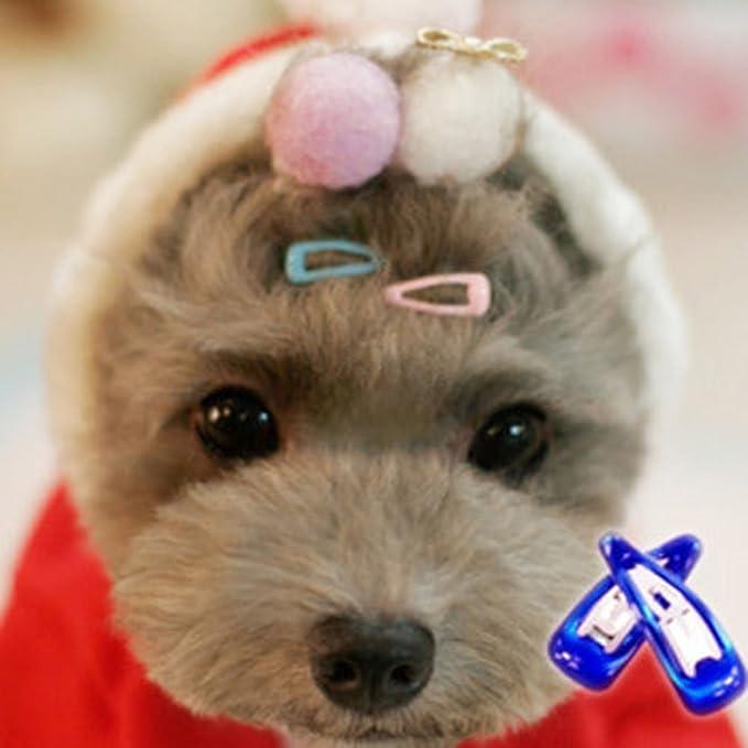 Dog Topknot Bowknot Bows Cute Dog Heart Hair Bows Sunglasses Design Puppy Hair Clips Dog Hair Accessories Pet Grooming Supplies POPETPOP Dog Bows Pet Hair Clips