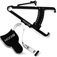 Body Fat Calliper and Measuring Tape for Body - Skin Fold Body Fat Analyzer and Bmi Measurement Tool by MEDca