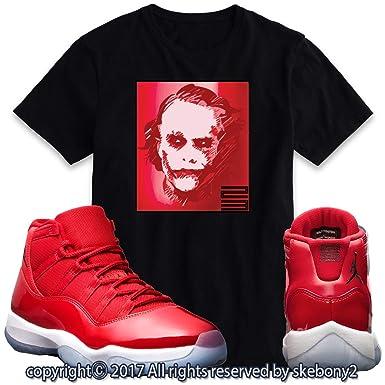 d9af9929d0c0e0 Custom T Shirt Matching AIR Jordan 11 Win Like 96 Matching TEE Bulls red JD-