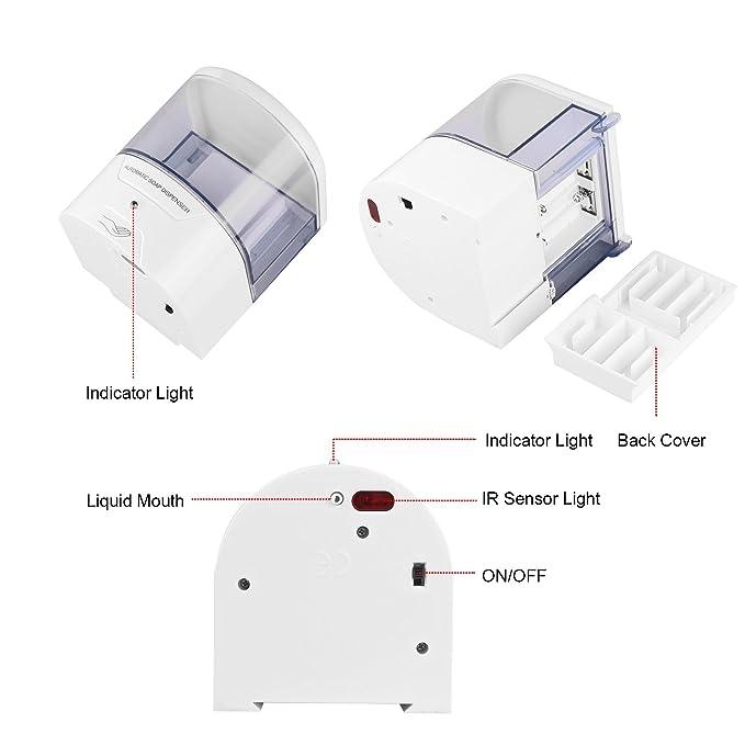 onerbuy soporte de pared dispensador de jabón automático Sensor de movimiento Touchless jabón loción bomba para cocina baño 600 ml: Amazon.es: Hogar