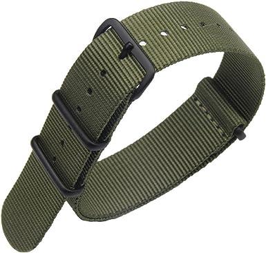 AUTULET 18 24mm Coloré Remplacement NATO Bracelet Bande Montre Nylon balistique pour Les Hommes