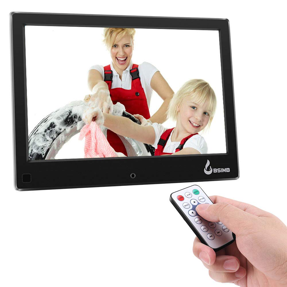 BSIMB Digital Picture Frame Digital Photo Frame 8'' LCD IPS Display Hi-Res Digital Photo & HD Video Frame Motion Sensor and USB/SD Card Playback Infrared Remote Control M22 by Bsimb (Image #3)