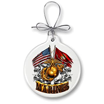 Marine Christmas Ornaments – USMC MARINE CORPS DOUBLE FLAG GOLD GLOBE -  Stone Military Gifts for - Amazon.com: Marine Christmas Ornaments €� USMC MARINE CORPS DOUBLE