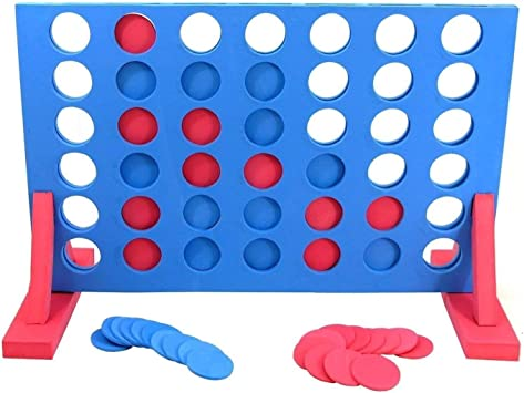 TOYLAND® Giant 4 In A Row Game - Juegos de jardín - Juegos Gigantes - Juegos Familiares: Amazon.es: Juguetes y juegos