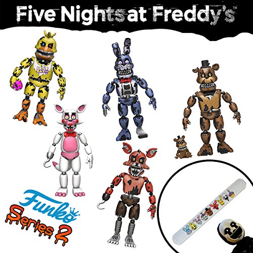 Phantom Freddy Costume - Funko FNaF 1 2 3 Five Nights at Freddy's Game (Complete 5 Piece Set) Toys 5