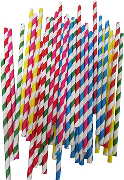 Brand New Pack of 200 Disposable Plastic 8 Inch Bendy Straws for Summer Party