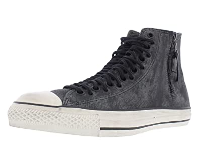 Converse by John Varvatos Unisex Chuck Taylor All Star Multi-Lace Zip Hi  Gunmetal/