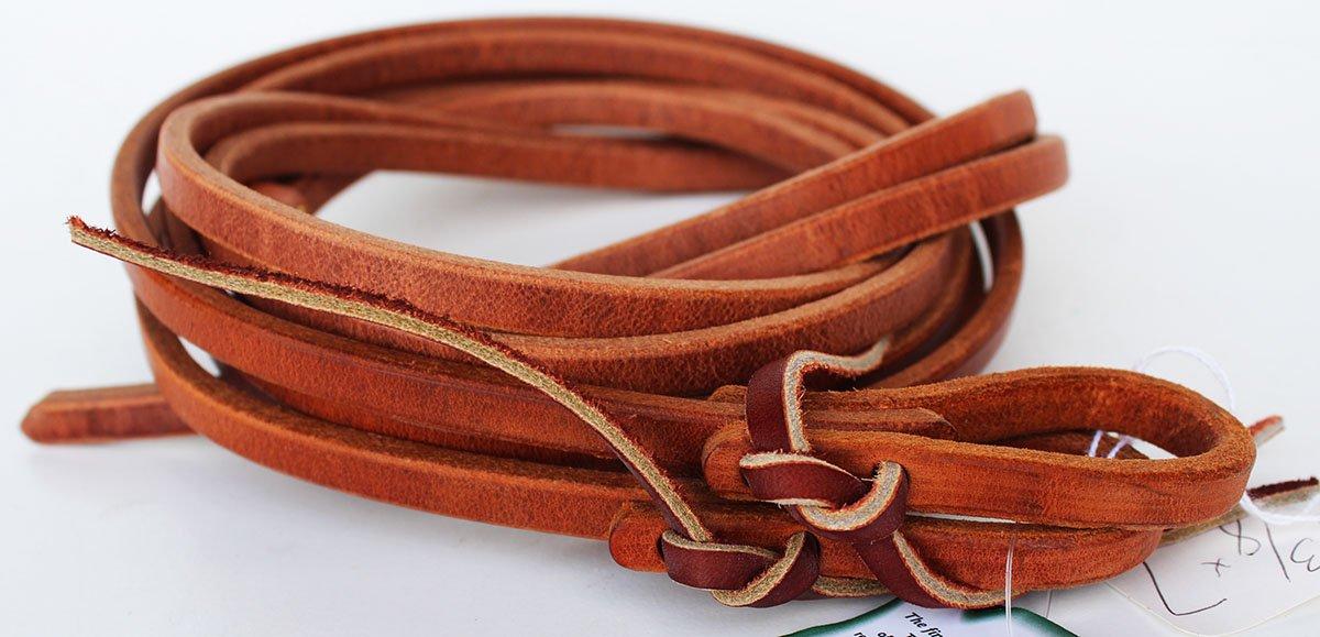 Amish USA Horse Saddle Tack Hermann Oak Leather Waterloop Split Reins 975H387 by Amish USA