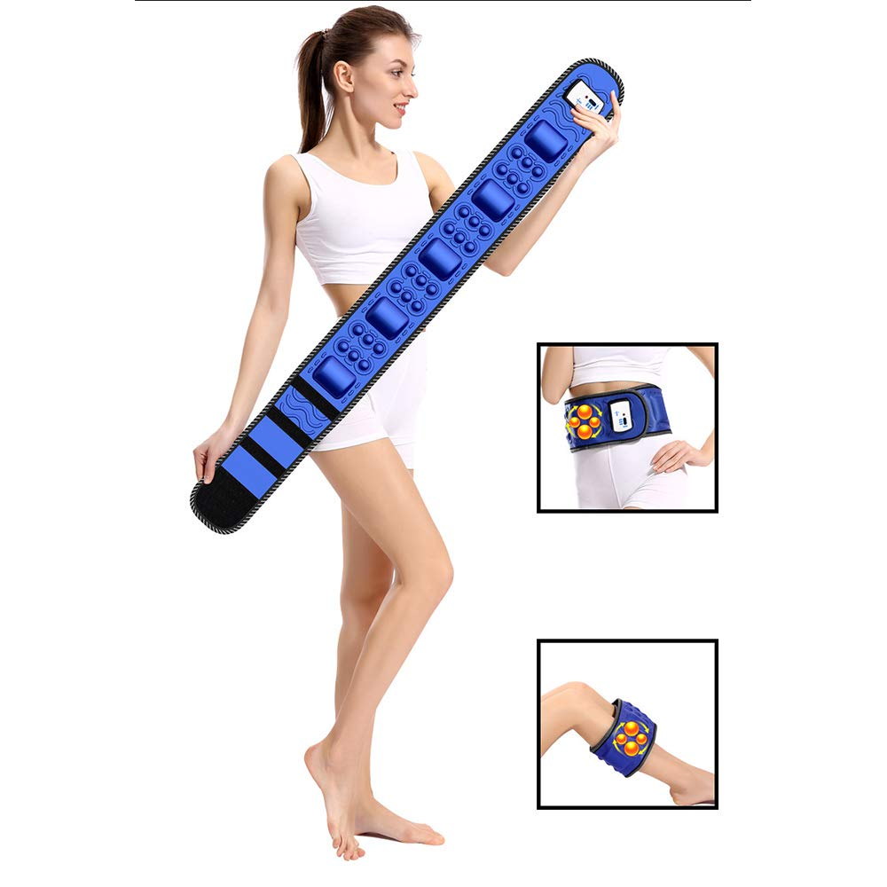 DTVX-Sports Plug-in-Vibrations-Schlankheitsg/ürtel-Massageger/ät zur Fettverbrennung Massage-Taillen-Trainingsger/ät f/ür M/änner und Frauen blau