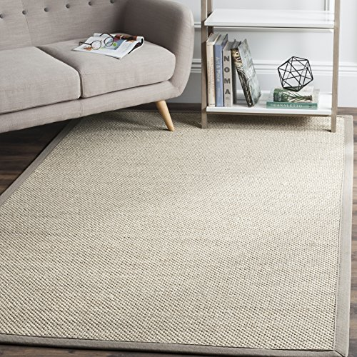 Safavieh Natural Fiber Collection NF143E Marble and Khaki Sisal Area Rug (4' x 6')