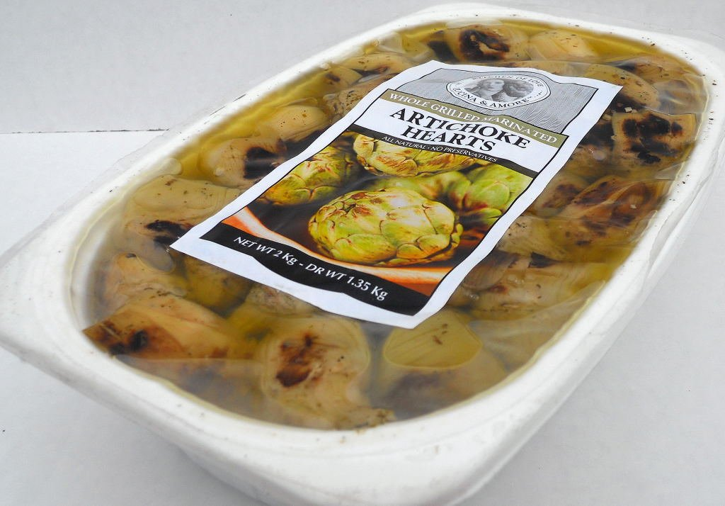 Artichoke Hearts (2 pack) Fire Grilled & Marinated 2kg tray Cucina & Amore