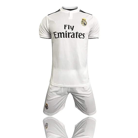 Camisetas para fanáticos2019-2020 (casa) Real Madrid Traje ...
