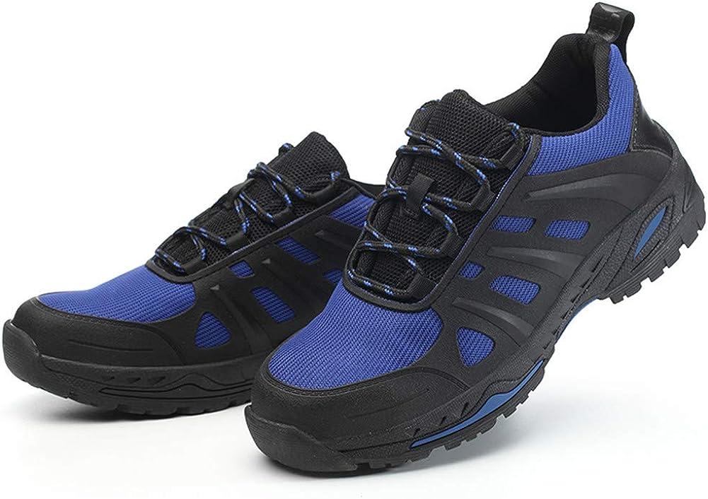 Aizeroth-UK Unisex Hombre Zapatillas de Seguridad con Punta de Acero Antideslizante S3 Zapatos de Trabajo Comodas Calzado de Trabajo Deportivos Botas de Protecci/ón Industria Construcci/ón