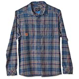 KAVU Men's Big Joe Long Sleeve Shirt, Charcoal, Large