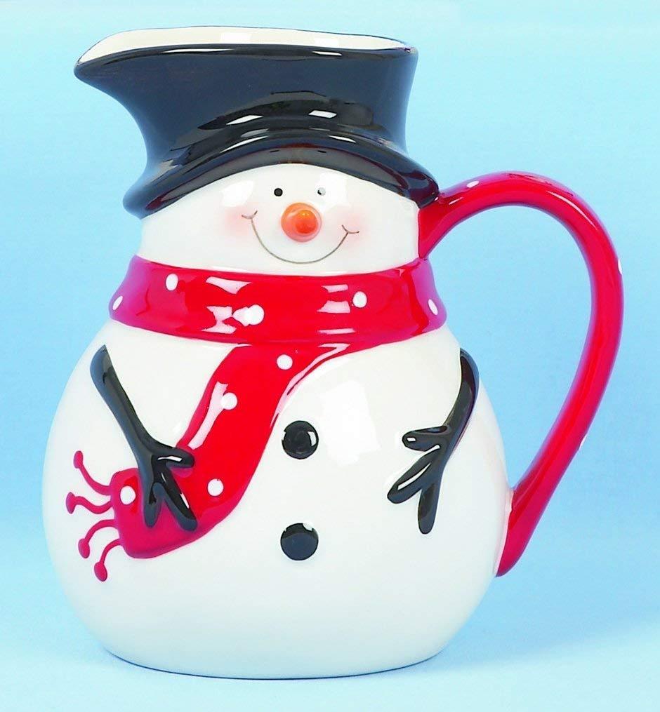 Christmas Tableware Ceramic Snowman Jug Milk Jug Sauce Jug Pitcher Premier Decorations
