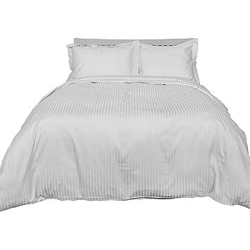 Homescapes 2 Teilige Damast Bettwäsche 135 X 200 Cm Weiß 100 Reine