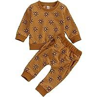 Infant Baby Girl Fall Outfits Daisy Print Long Sleeve Tops T-Shirt+Pocket Pants Leggings Clothes Sets
