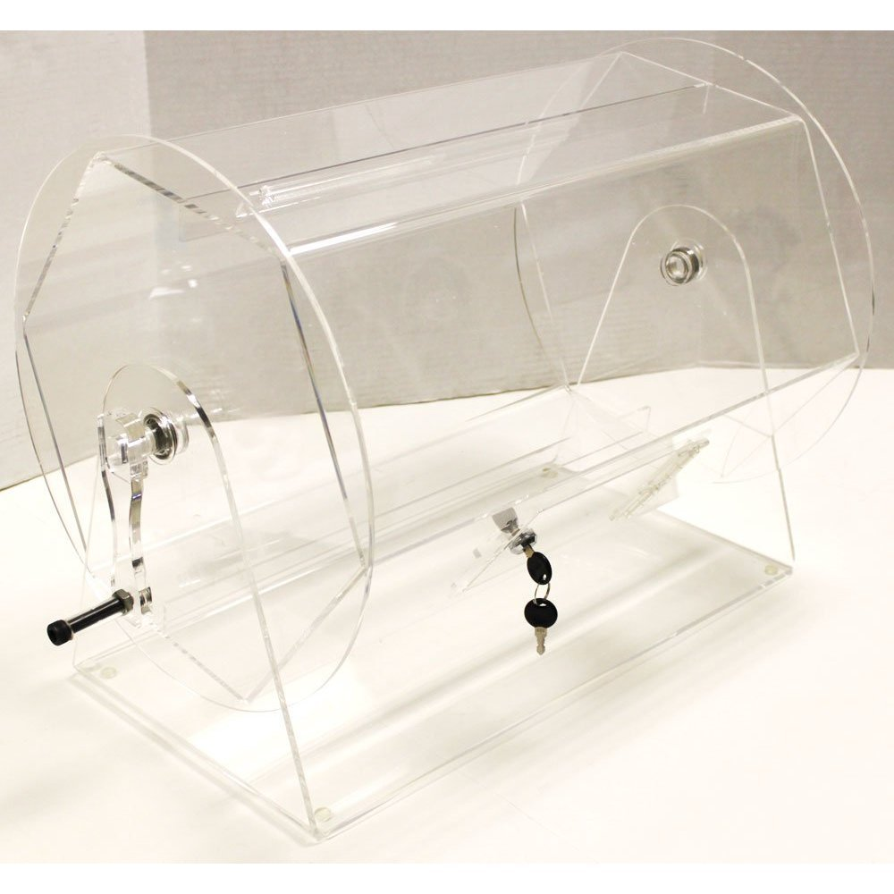 Large Acrylic Raffle Drum by Midway Monsters by MIDWAY MONSTERS