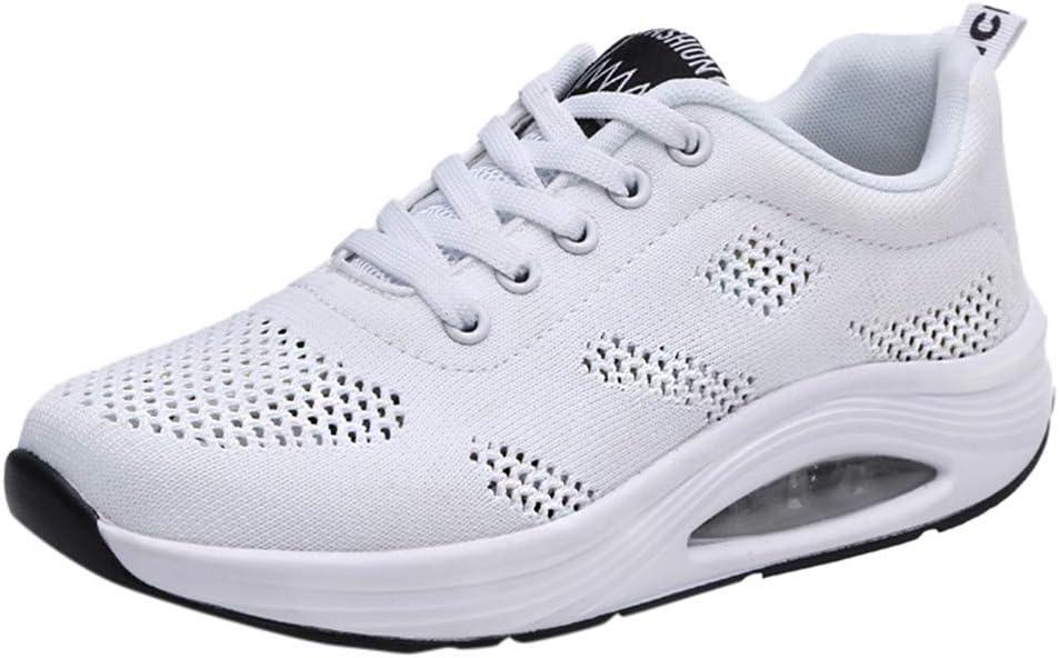 ღLILICATღ Zapatos Deporte Mujer Zapatillas Deportivas Correr Gimnasio Casual Zapatos para Caminar Mesh Running Transpirable Aumentar Más Altos Sneakers Negro Blanco Rojo: Amazon.es: Deportes y aire libre