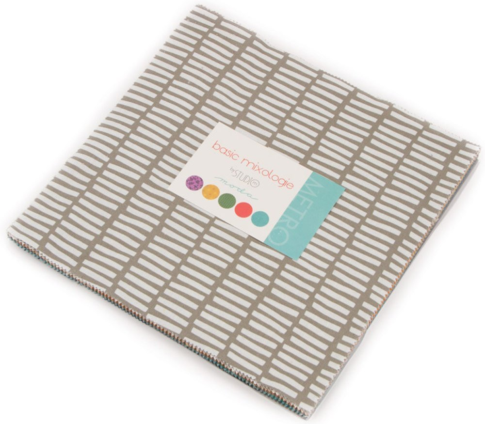 Basic Mixologie 2018 Layer Cake 42-10 inch Precut Fabric Quilt Squares by Studio M