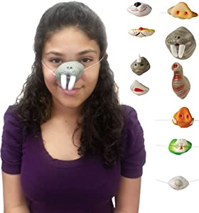 """U.S. Toy Assorted Animal Noses - Set of Animal Series Nose Masks, 2"""" - 3"""" IN LENGTH"""