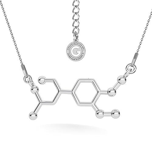 Amazon.com: Collar de plata de ley 925 con diseño de fórmula ...