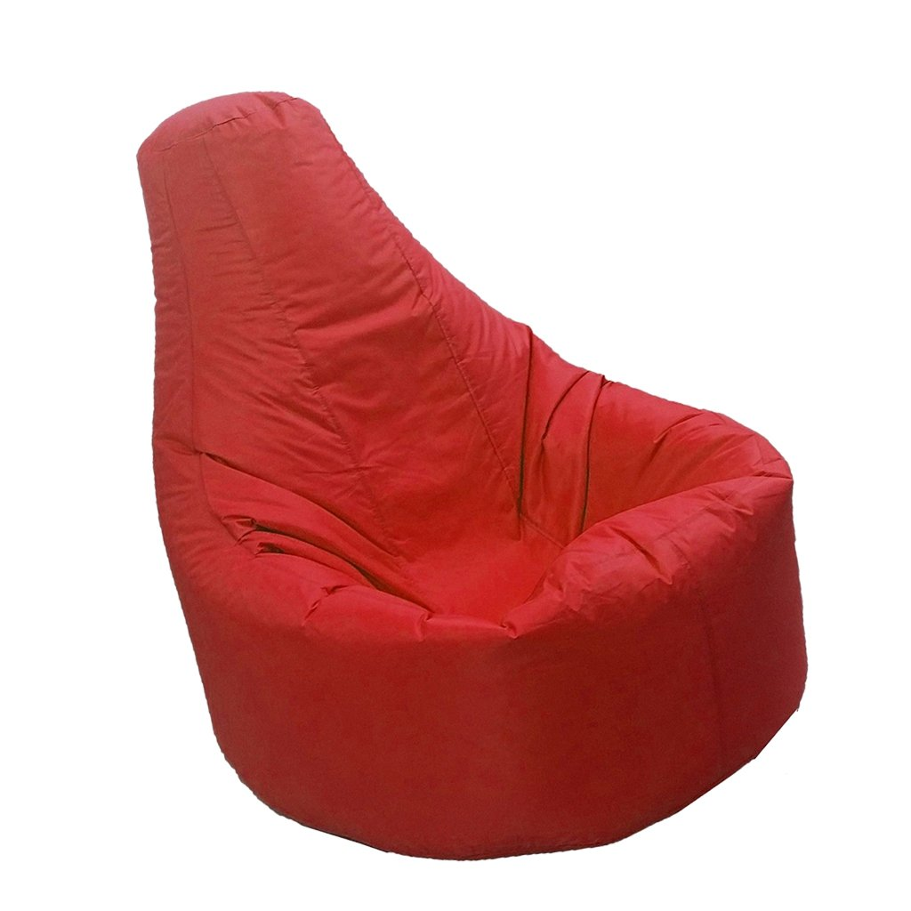 D DOLITY Solid Color Waterproof Canvas Adult Kids XXL Large Gamer Beanbag Cover Garden Outdoor Gaming Room - Red
