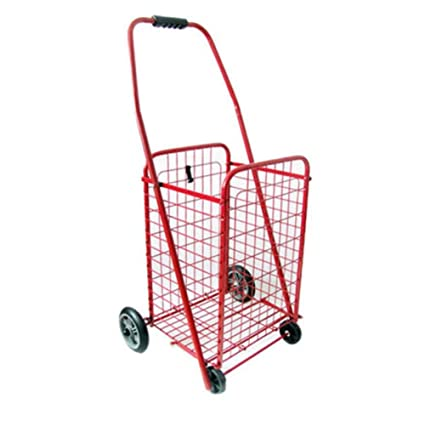 MEYLEE Remolque para equipaje Carretilla para compras ligera Carretilla plegable para grandes ruedas con capacidad para