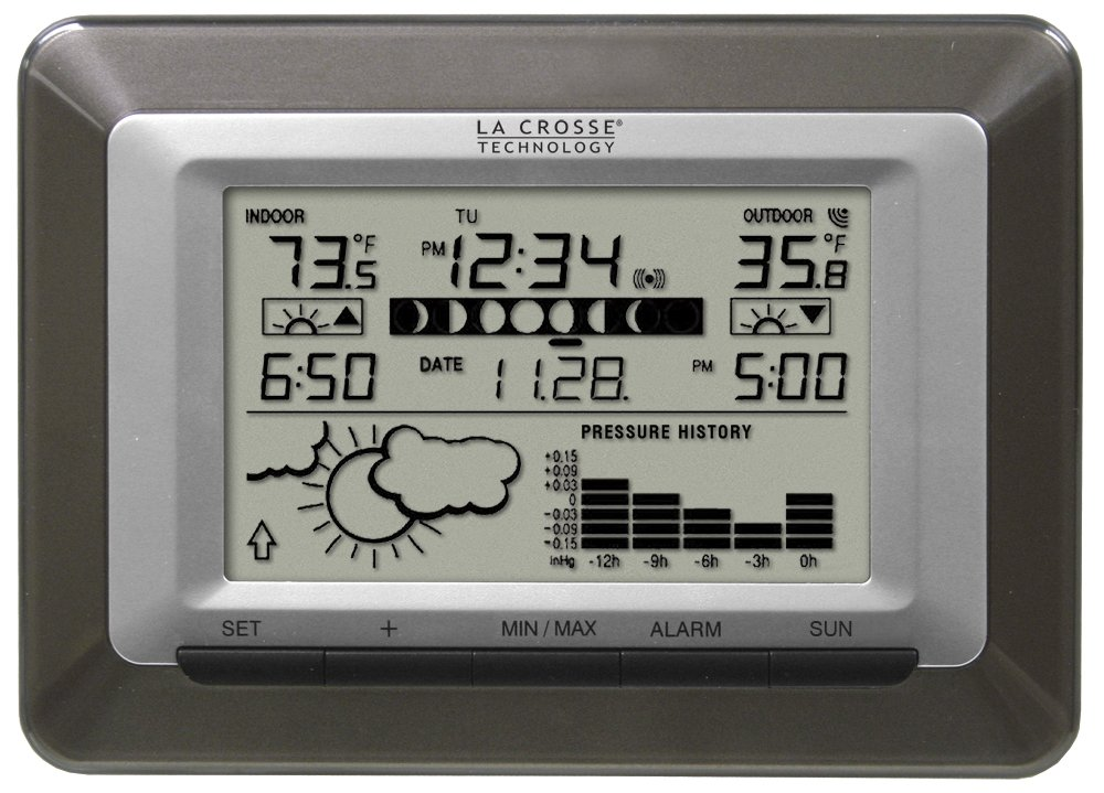 La Crosse Technology WS-9250U-IT Advanced Wireless Sun/Moon Forecast Weather Station with Barometer WS-9250U-IT-CBP