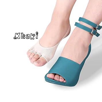 Amazon.com: 5 pares para mujer no show calcetines Yoga ...
