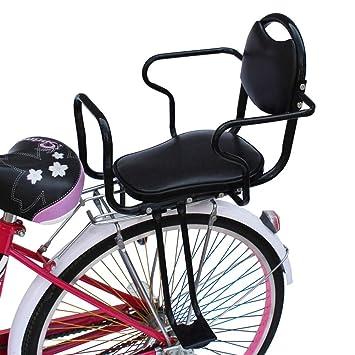 QJIAXING Bicicleta Asiento de Respaldo para niños con reposabrazos ...