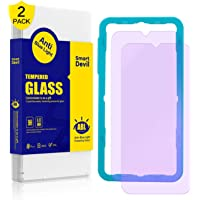 SMARTDEVIL 2 Pack Screen Protector Foils for Oneplus 7 Protective Tempered Glass Film for 6.41 Inch Screen with Installation Tool, Anti-Blue Light, 9H Hardness Support Shockproof Anti-Scratch