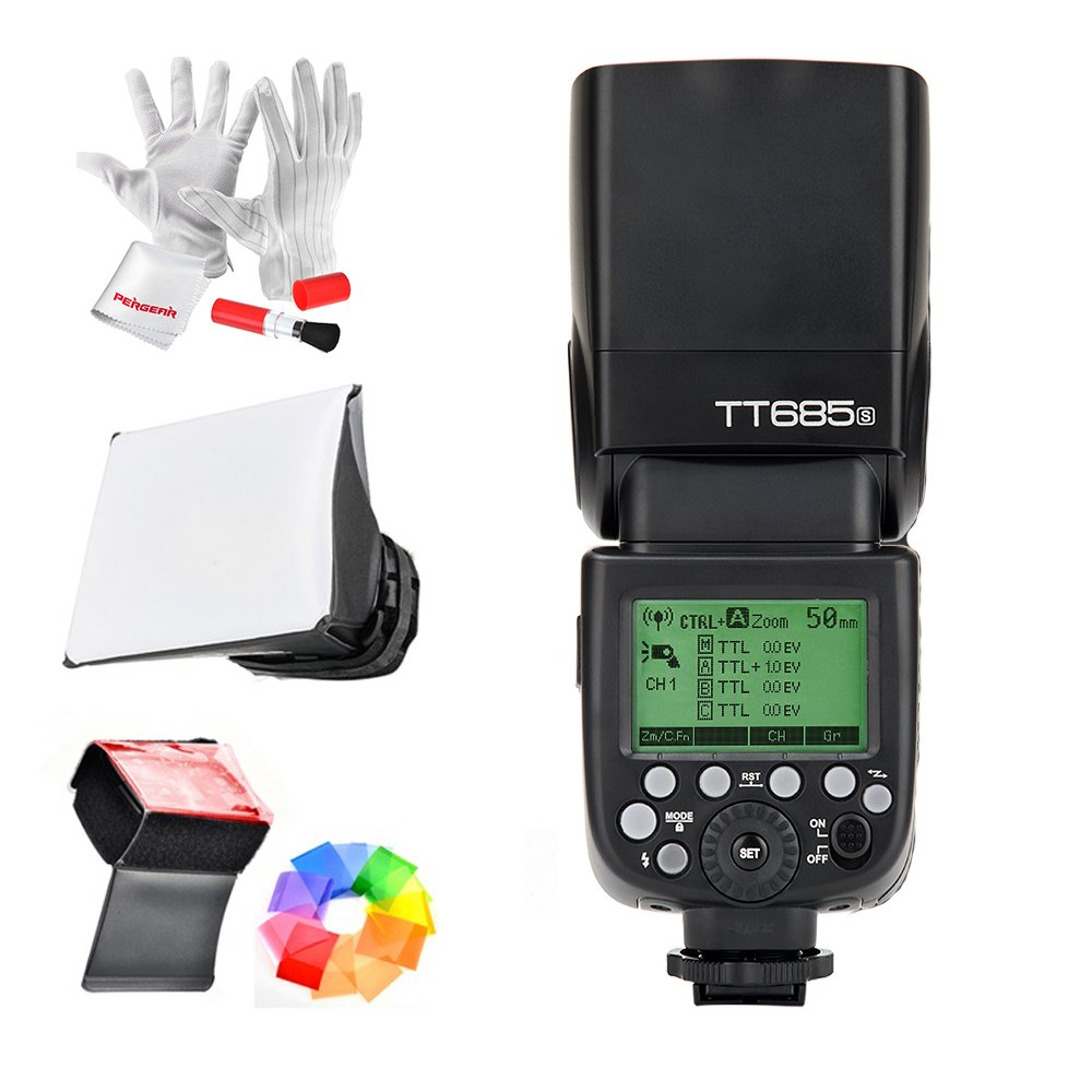 Godox TT685S HSS 1/8000S GN60 TTL Flash Speedlite 0.1-2.s Recycle Time 230 Full Power Flashes 22 Steps of Power Output Supports TTL/M/Multi/S1/S2 Modes 20-200mm Auto/Manual Zooming for Sony DSLR by Godox