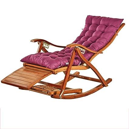 En Inclinable En Fauteuil Chaise Longue Pliante Bambou Lq345AjR