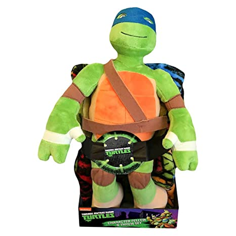 Nickelodeon Kids Teenage Mutant Ninja Turtles Pillow and Throw Set