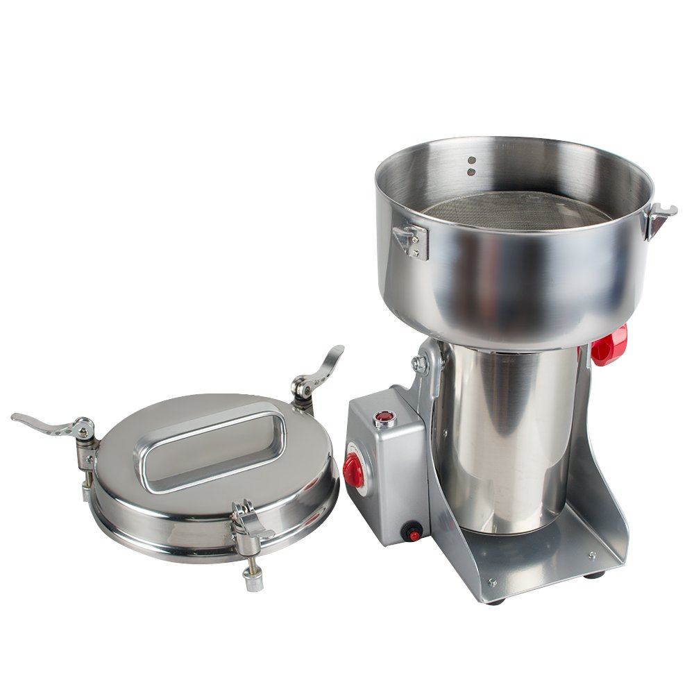 Genmine Electric Grain Grinder Mill Machine Commercial 1000g Kitchen Herb Spice Pepper Coffee Grinder Powder Swing Type for Herb Pulverizer Food Grade Stainless Steel (Shipping From USA) by genmine (Image #4)