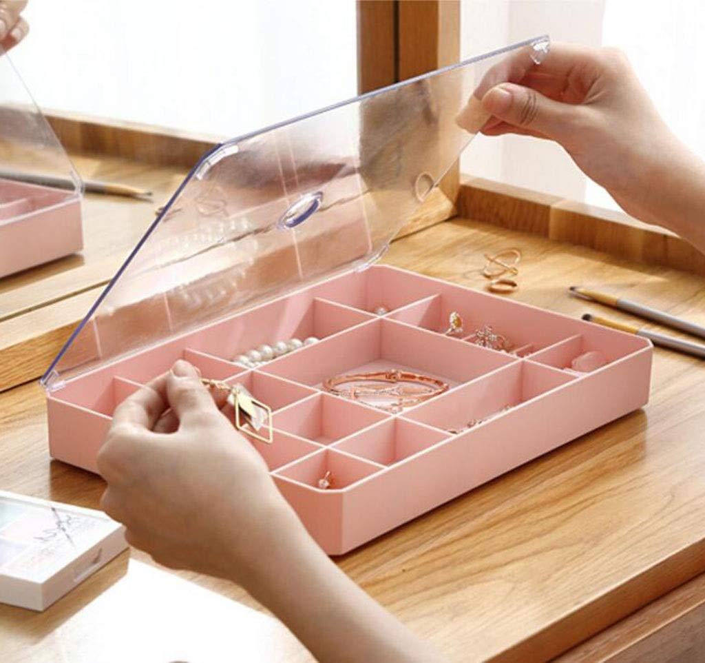 Scatola portaoggetti trasparente antipolvere scatola portaoggetti portatile