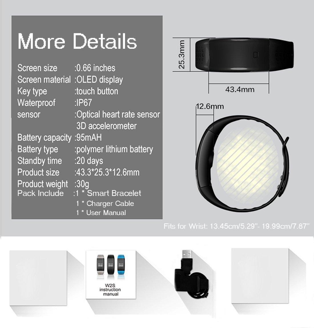 Fitness Tracker, Arvin ritmo cardíaco reloj presión arterial Monitor de Oxígeno en Sangre podómetro deportes pulsera reloj inteligente Bluetooth Salud ...